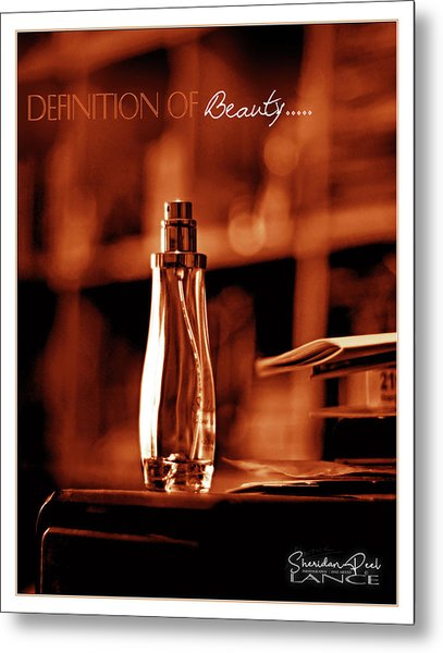 Red Definition Of Beauty Metal Print
