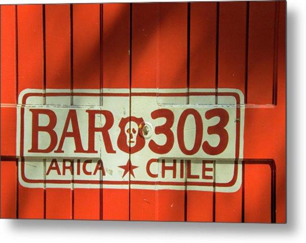 Red Door In Arica Chile Metal Print