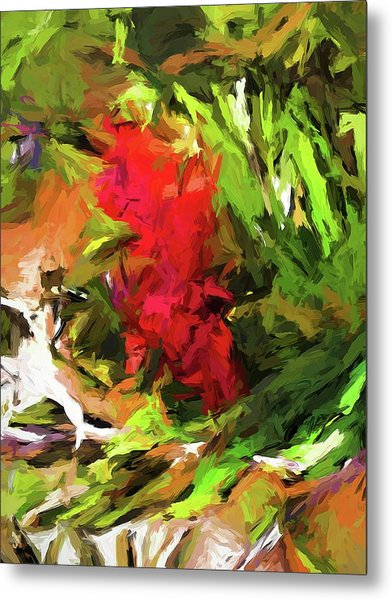 Red Flower On The Branch Metal Print