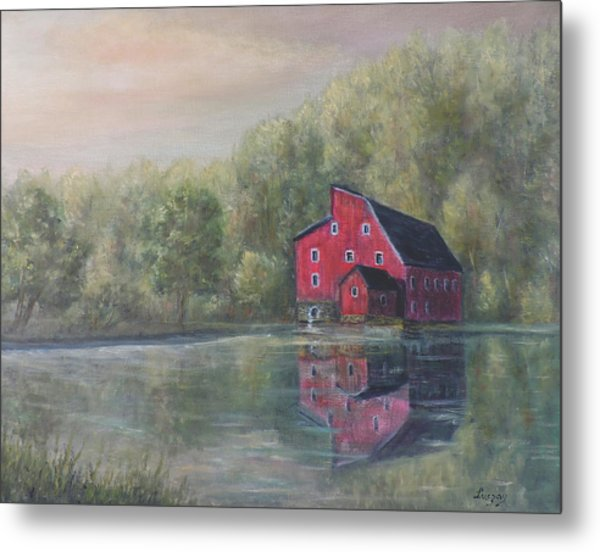 Red Mill Clinton New Jersey Metal Print