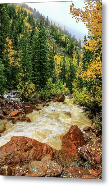 Metal Print featuring the photograph Red Mountain Creek In San Juan Mountains by Dawn Richards