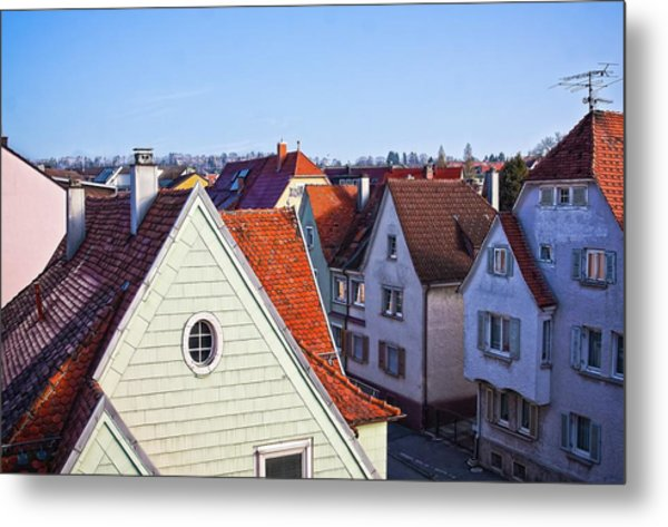 Metal Print featuring the photograph Red Roofs In Donaueschingen, Germany by Tatiana Travelways