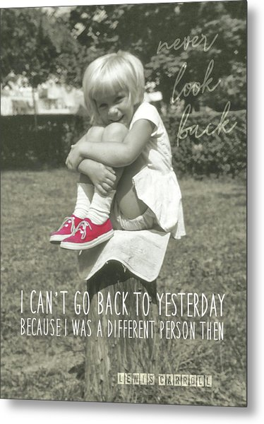 Red Sneakers Quote Metal Print by JAMART Photography