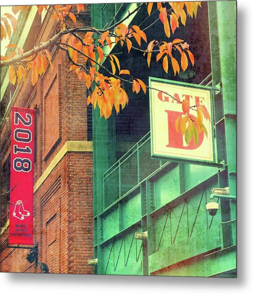 Metal Print featuring the photograph Red Sox 2018 World Series Champs by Joann Vitali