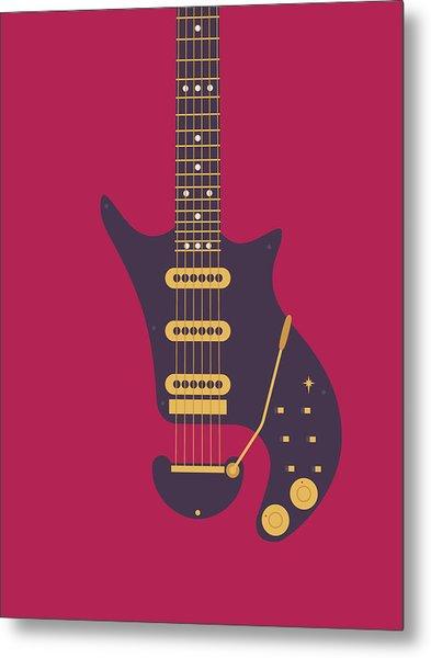 Red Special Guitar - Burgundy Metal Print