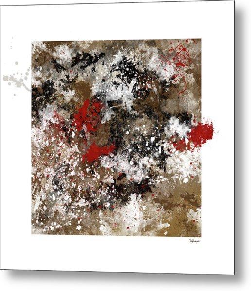 Red Splashes Metal Print