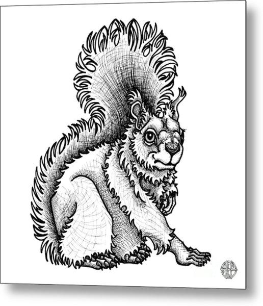 Red Squirrel Metal Print