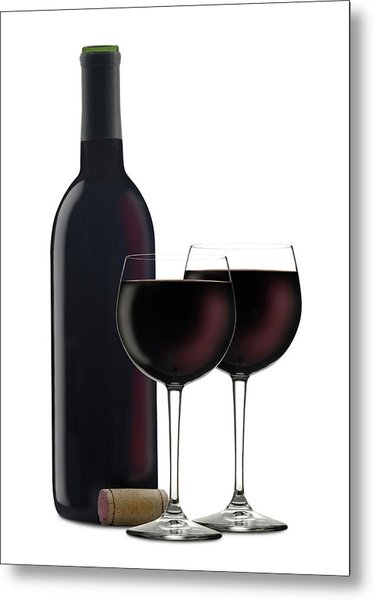 Red Wine II Metal Print by Pixhook