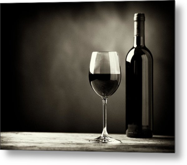 Red Wine Metal Print by Kaisersosa67