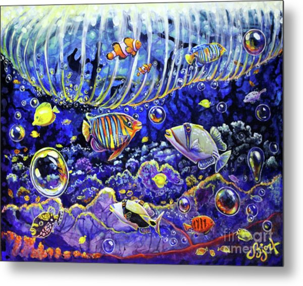 Reef Break Metal Print
