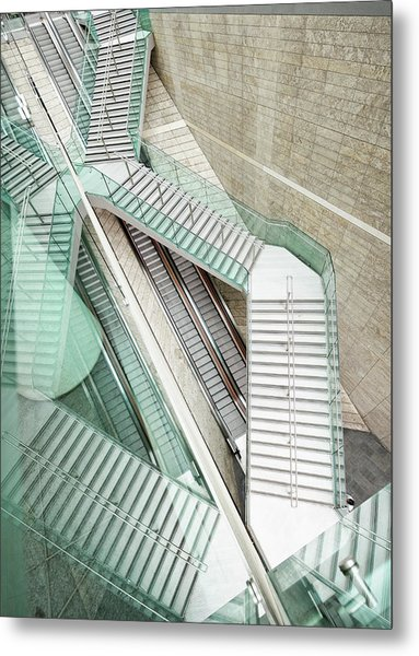Reflected Modern Architecture - Winding Metal Print by Georgeclerk