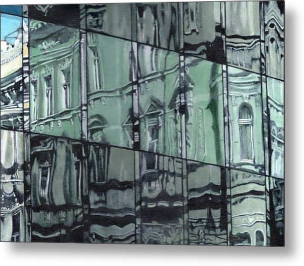 A Reflection On Modern Architecture Metal Print