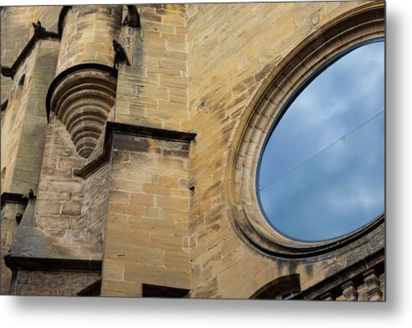 Reflection, Sarlat, France Metal Print