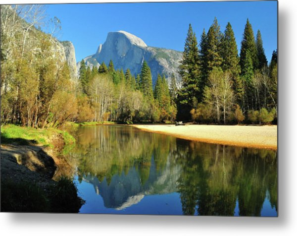 Reflections Of Half Dome Metal Print