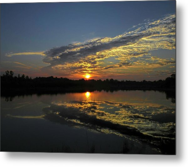 Reflections Of The Passing Day Metal Print