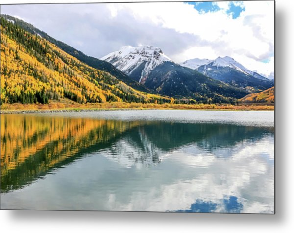 Reflections On Crystal Lake 1 Metal Print