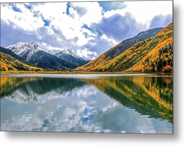 Reflections On Crystal Lake 2 Metal Print