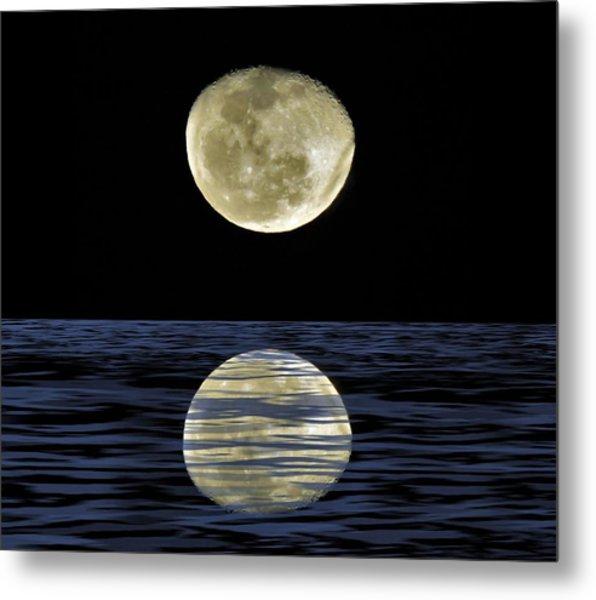Reflective Moon Metal Print
