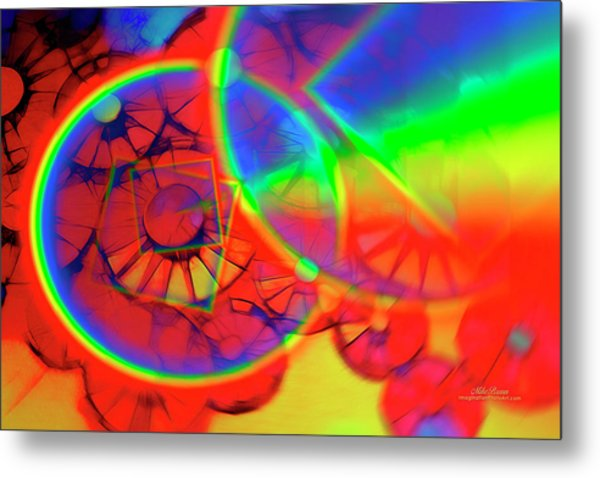 Refracting The Wheel Metal Print