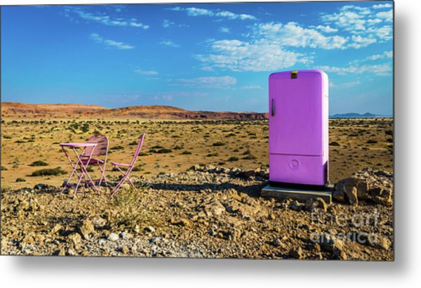 Refreshments Pit Stop In The Middle Of Nowhere Metal Print