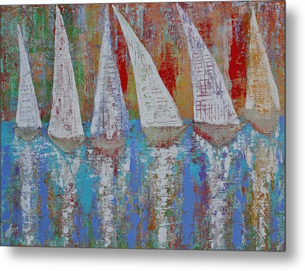 Regatta Original Painting Metal Print