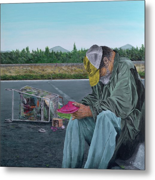 Metal Print featuring the painting Regret by Kevin Daly
