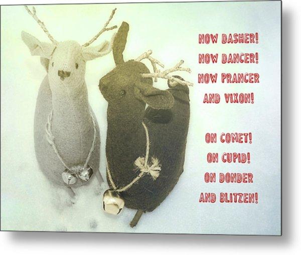 Reindeer Dash Quote Metal Print by JAMART Photography