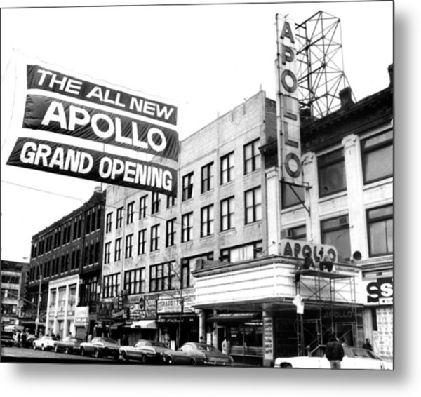 Reopening Apollo Theatre At 252 West Metal Print