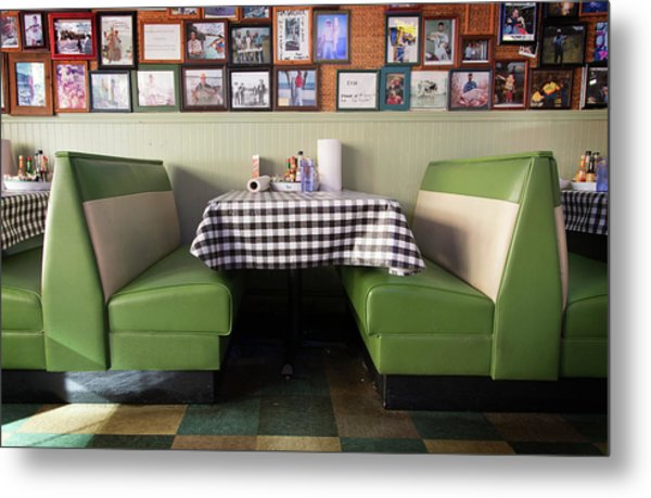 Restaurant Booth Metal Print