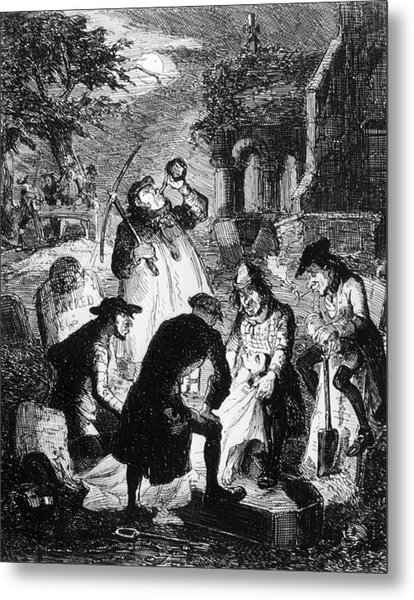 Resurrectionists At Work Metal Print by Hulton Archive