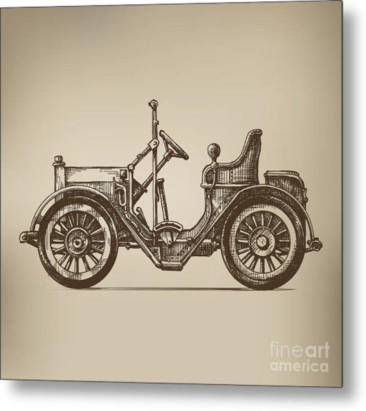 Retro Automobile Metal Print
