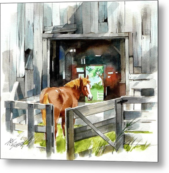 Returning Home Metal Print by Art Scholz