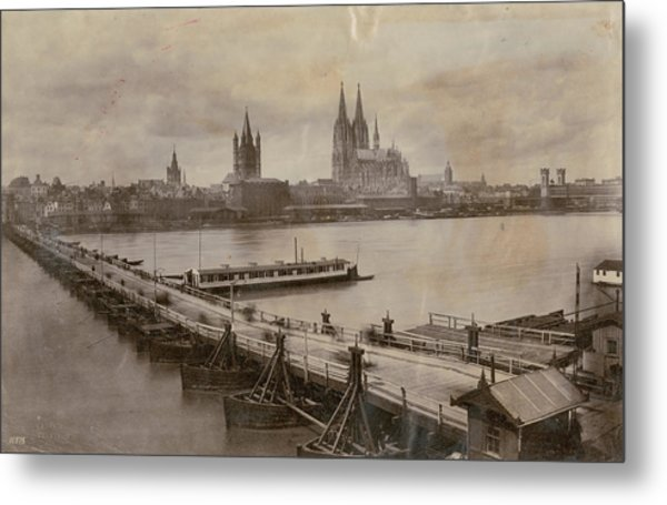 Rhine In Cologne Metal Print by Hulton Archive