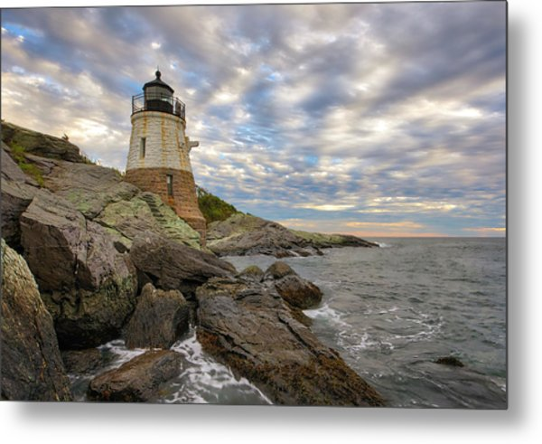 Metal Print featuring the photograph Rhode Island Castle Hill Lighthouse by Juergen Roth