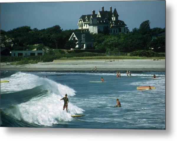 Rhode Island Surfers Metal Print by Slim Aarons