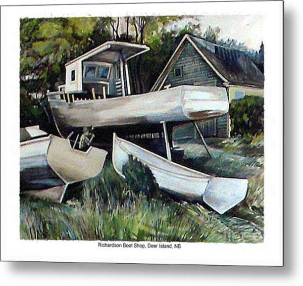 Richardson Boat Shop Metal Print