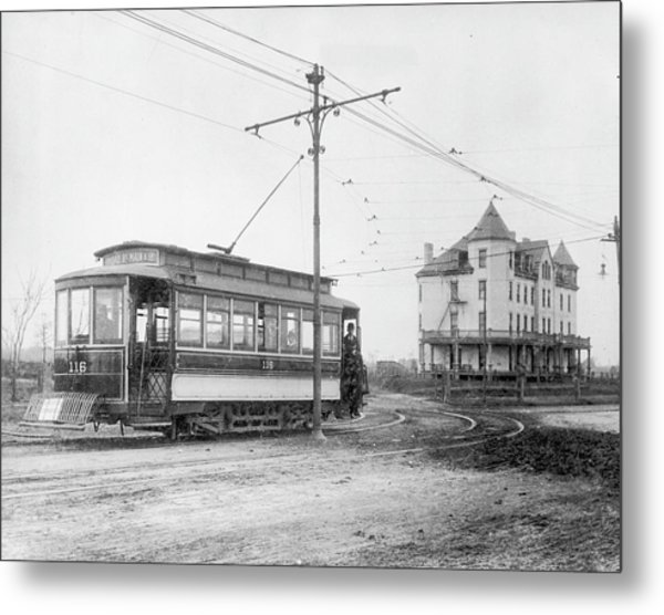 Richmond Tram Metal Print by Authenticated News