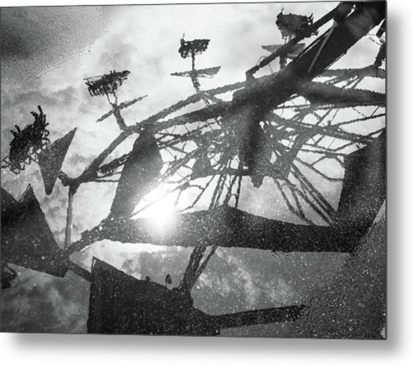 Ride Reflection Metal Print