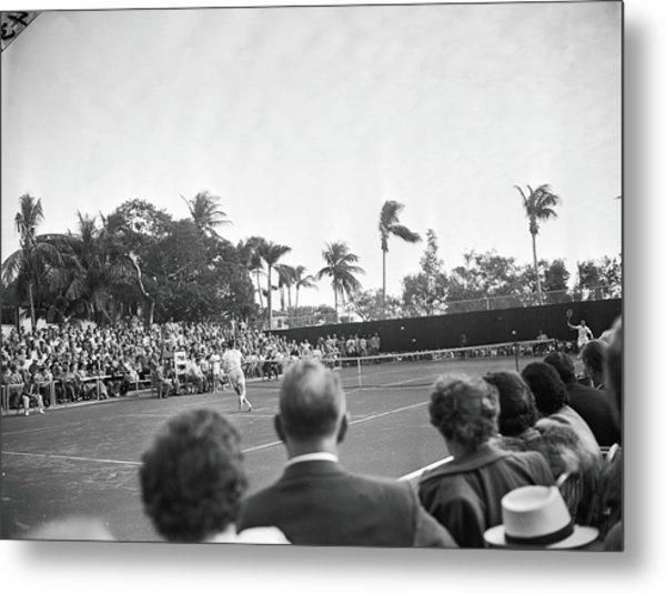Riggs Vs. Kramer At Coral Beach Tennis Metal Print