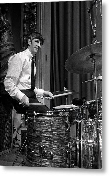 Ringo Starr, Drummer Of The Beatles Pop Metal Print