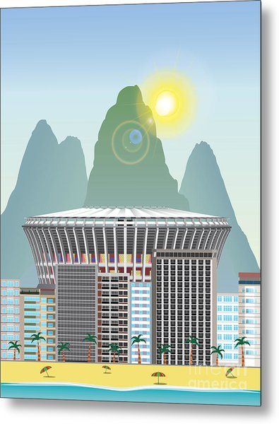 Rio Landmark Metal Print by Nikola Knezevic
