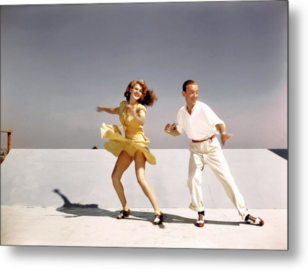 Rita Hayworth And Fred Astaire Metal Print