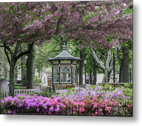 Rittenhouse In Spring Metal Print by Stacey Granger