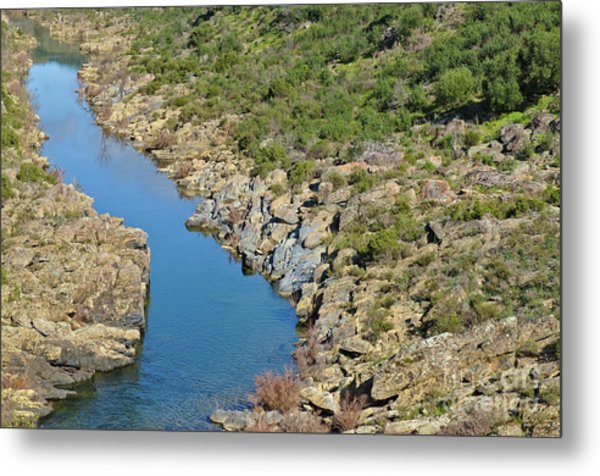 River On The Rocks. Color Version Metal Print