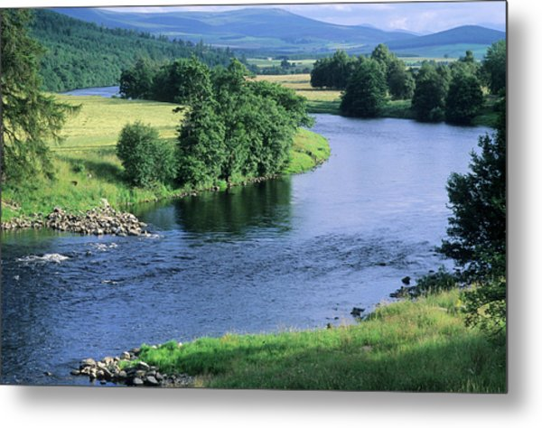 River Spey Near Grantown, Scottish Metal Print by Neil Holmes