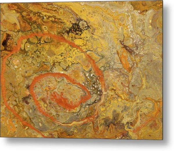 Riverbed Stone Metal Print