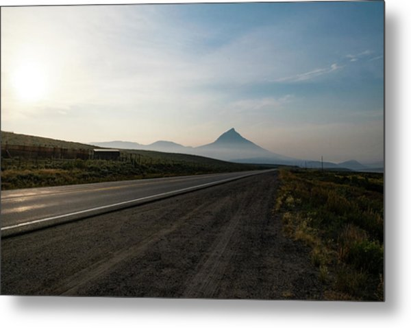 Road Through The Rockies Metal Print