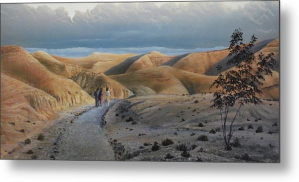 Road To Emmaus Metal Print