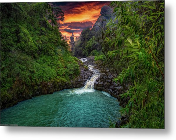 Road To Hana, Hi Metal Print
