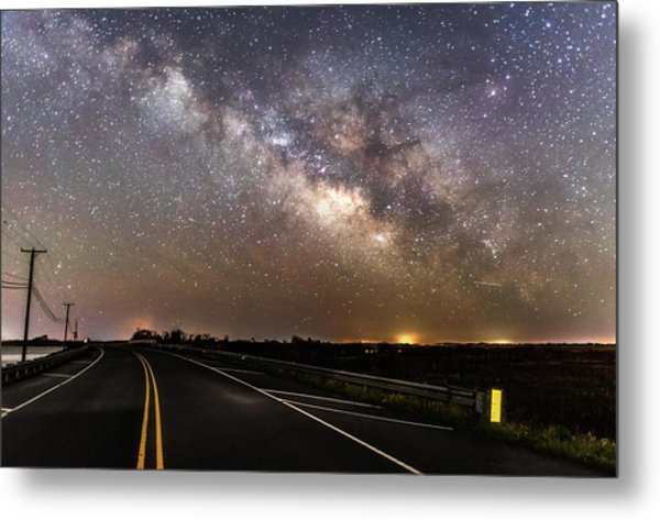 Road To Milky Way Metal Print